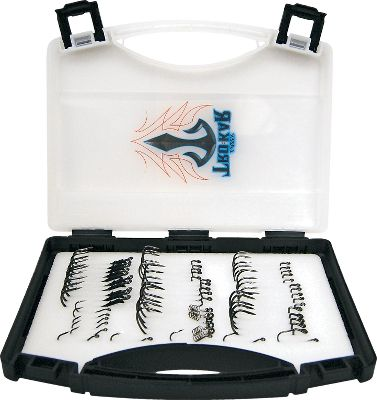 Fishing Drop-shotting or fishing the riprap, Texas or Carolina rigging, whatever the technique this 50-piece kit has it covered. The popular Lazer TroKar hooks meet the demands of the best anglers in the industry. The handy plastic storage case organizes the hooks so you wont be searching for the right hook when the bite is on. Includes five each: TK100 2/0, 3/0; TK110 3/0, 4/0; TK120 3/0; TK130 4/0, 5/0; TK140 4/0; TK150 1, 1/0. Type: Hooks. Style Elite Pro Assortment. - $59.99