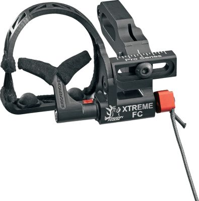 Hunting The quick-loading X-Treme FC Pro Rest delivers a sleek, lightweight and durable design with built-in silencing solutions. Its full-containment system features a bristle-guard side slot for ultrasilent loading. Its enhanced pivot-lever design makes cord-length adjustments quick and easy. Bold, easy-to-see indicator marks. Split-second, down cable activation. Lifetime warranty. Right hand only. Type: Drop Away. - $71.88
