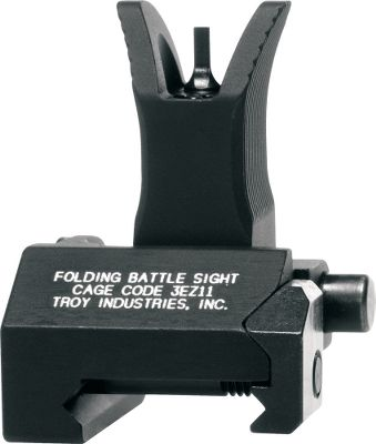 Entertainment Troy BattleSights deliver lightning-fast target acquisition, superior sighting and battle-ready toughness. Optically engineered apertures center your eyes instantly for a clearer target picture. Zero-canting attachment system is easy to install on all military and aftermarket receivers. Stainless steel cross-locking system ensures sights remain upright and zeroed in extreme conditions. Recessed windage wheel prevents accidental loss of zero. No tools required for adjustment. Machined from hardened T6 aircraft aluminum with stainless steel components and finished with mil-spec type-III hard-coat anodizing. Slim .5 profile when folded. Made in USA. Two settings:300 and 500 meters. Available: Front, Rear. Color: Stainless. Type: Sights. - $99.99