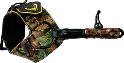 Hunting The 360 degrees of head rotation in front of the trigger allows you to freely rotate your hand while the trigger follows. It has a trigger travel adjustment, fits right and left hand, and has the fold-back Evolution buckle strap for hands-free glassing, climbing and rattling. Made in USA. - $41.88