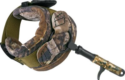 Hunting The Hybrid Strap is a cross between a Velcro strap and a conventional buckle strap for precise adjustment and comfort. It utilizes a linear motion bearing for an extremely smooth trigger feel and release. It also features a new lockdown set screw for up to 1 length adjustment and an exact fit. The release head is smaller in diameter than a dime. Scaled-down version retains the functionality and benefits you'd expect. Fold-back buckle strap allows the head and rod to fold back while pulling arrows or climbing into a treestand. Fits both right and left hand. Made in USA. Type: Wrist Strap. - $59.88