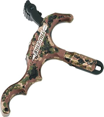 Hunting A handheld wonder with super-smooth 360 head rotation for perfect anchor point placement. Fluid trigger action with adjustable trigger tension and thumb knob. Slim, anodized-aluminum handle with small jaws able to handle small string loops with ease. Color: Camo. Type: Handheld Releases. - $99.99