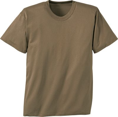 Guns and Military TheMilitary Spec Mens Tee Shirts has comfortable, durable 50% cotton, 50% polyester construction for minimal shrinkage. Full-cut body. Double-needle sport collar prevents neck from sagging. Treated to resist fading. Imported. Sizes: S-3XL. Colors/Camo patterns: Army Digital, Digital Desert, Digital Woodland, Woodland, Brown. Size: SMALL. Color: Brown. Gender: Male. Age Group: Adult. Pattern: Camo. Material: Polyester. - $4.99
