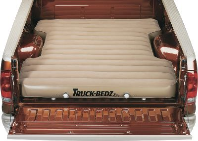 "Camp and Hike Lay down for the best night's sleep you'll ever have in a truck bed or SUV. The 8""-thick mattresses are cut to fit directly into your truck bed or SUV. Included 12-volt air pump plugs into your vehicle's outlet and takes care of the work of inflating the mattress. Dual, high-volume, two-stage boat valves for easy inflation and deflation. Constructed of 420-denier nylon that is thermally coated with TPU polyurethane and RF welded for incredible strength and puncture resistance. Includes zippered wedge carry bag that fits behind the seat of your truck. Imported.Available: Full-Size Long Bed (8-ft. bed)Full-Size Short Bed (6.75-ft. bed)Full-Size Short Bed (6.25-ft. bed)Compact Short Bed (6-ft. bed)Tailgate Down Mid-Size (7-ft. bed) - $189.88"