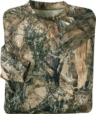 Hunting True Timber combines technical designs and patterns that blend perfectly with a wide range of conditions you'll encounter while hunting the West. This ground-breaking new pattern was designed using high-definition digital images to create realistic, cutting-edge patterns. Lightweight, breathable and moisture-wicking polyester keeps you cool and dry. Imported. Sizes: M-2XL. Camo patterns: True Timber MC2, True Timber XD3. - $9.88