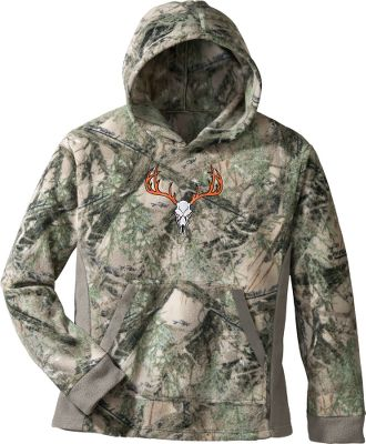 Hunting Kick back in true base-camp-style relaxation in this comfy True Timber Mens Fleece Hoodie. The polyester fleece has a plush feel. Head-warming, three-piece hoodie. Kangaroo pocket. Fleece cuffs and hem. Imported. Sizes: M-2XL. Camo patterns: True Timber MC2 , True Timber MC2 Snow. Size: XL. Color: MC2 Snow. Gender: Male. Age Group: Adult. Material: Fleece. Type: Hoodies. - $29.88