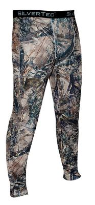 Hunting Made for comfort in cold-weather hunting conditions, they feature soft, moisture-wicking 100% polyester construction and a nonrestrictive fit for exceptional in-the-field mobility. MicroSilver Crystal Technology reduces odor-causing bacteria, extends freshness between washes and eliminates static. Nonabrasive flatlock seams. Front fly. Imported. Sizes: M-2XL.Camo patterns: True Timber MC2 , True Timber XD3. - $14.88