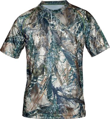 Hunting Made for comfort in warm-weather hunting conditions, the True Timber Mens Silvertec Short-Sleeve Raglan Crew features soft, moisture-wicking 100% polyester construction and a nonrestrictive fit for exceptional in-the-field mobility. MicroSilver Crystal Technology reduces odor-causing bacteria, extends freshness between washes and eliminates static. Nonabrasive flatlock seams. Raglan sleeves and a drop-tail design. Imported. Sizes: M-2XL. Camo patterns: True Timber MC2 , True Timber XD3, True Timber HTC. Size: 2XL. Color: Htc. Gender: Male. Age Group: Adult. Pattern: Camo. Material: Polyester. - $14.88