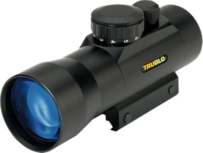Hunting Two-power magnification makes this a truly unique red-dot sight. In fact, it's one of the few two-power red dots on the market with a 30mm objective lens. Waterproof and fogproof for all-weather use. Shock-resistant up to .50 caliber muzzleloader. An 11-position rheostat controls the brightness. The unlimited eye relief, wide field of view and 2.5-MOA red dot make for fast target acquisition. Multicoated lenses for more than 95 light transmission. Flip-up lens caps included. Integrated Weaver-style mounting system. Limited lifetime warranty. Color/camo pattern: Black, Realtree APG. Color: Red. - $99.99