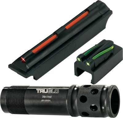 Hunting Upgrade your turkey gun for long-range precision with this choke-tube/sight combo. The Magnum Gobble-Dot Xtreme Sight has Tri Dot in-line fiber optics for low-light visibility, and it simply snaps into place. Gobble-Stopper Xtreme choke tube is ported and has an extra-tight constriction for dense patterns at extended ranges. Fits 12-gauge shotguns only. - $19.88