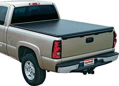 Motorsports Enjoy the convenience of a roll-up, high-quality Tonneau Cover at an unbelievably affordable price. No snaps, no clips and no zips on this cover, and its super-easy, no-drill, clamp-on installation takes as little as 20 minutes. The bows have just the right amount of flex to keep water rolling off without that covered wagon look that some covers have. When not in use the bows roll up with the cover and are secured at the front of the pickup bed with the incorporated straps. Leather-grain, vinyl-coated 14-oz. fabric assures years of dependable performance. The no tools required tension control adjusts in seconds to compensate for temperature variations with the tailgate closed. The Truxport's positive latching mechanism is hidden from would-be thieves. Five-year warranty. - $29.99