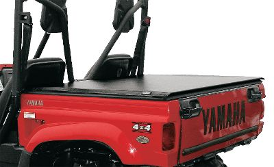 Motorsports Outfit your UTV with a sized-to-fit Truxedo pick-up Tonneau cover. Using the same industry leading constructions it is made of a leather-grain, vinyl-coated fabric, the material has a lifetime warranty. The exclusive fastening system allows for quick and easy access and operation. Opens and closes in less than 30 seconds. The rear header, bows and cover roll up and fasten at the front of the bed with security straps allowing full access to the bed. Rear access latches are inaccessible with cover closed for an added sense of security. Seals on the sides keep out the elements. Low-profile, stylish design looks great too. Made in USA Available: Yamaha 04-09 Rhino 660 Polaris 00-08 Ranger Kawasaki Teryx Honda Big Red Arctic Cat Prowler Color: Red. Type: UTV Roll-Up Tonneau Cover. - $179.99