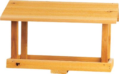 "Camp and Hike These bird feeders feature cedar construction for added strength and long-lasting durability. Each feeder includes a post mount (post not included). Made in USA.Available: Double-Hopper Feeder Fill with two seed varieties. Dimensions: 22""L x 11""W x 10""H. Medium Fly-Through Feeder Perforated metal bottom with rust-resistant, powder-coated paint. Dimensions: 19""L x 14""W x 14""H. Large Fly-Through Feeder Perforated metal bottom with rust-resistant, powder-coated paint. Dimensions: 22""L x 17""W x 16""H. - $39.88"