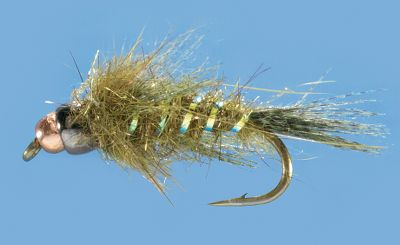 Flyfishing Quick-sinking beadhead nymph mimics a variety of stream-born insects. Per 2.Sizes: 12, 14, 16.Colors: (001)Olive, (002)Natural. - $3.88