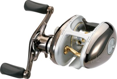 Fishing Engineered for superior strength with one-piece aluminum body and sideplates, machined solid-brass gears, a stainless steel spool shaft, stainless steel bearings and a forged-aluminum handle. Strong titanium-nitride-coated ALBe levelwind lays and feeds line smoothly. Fixed levelwind height set for optimal distance and line control. Magnetic spool control reduces backlash. Multidisc drag system. Thumb-bar release. Forged two-tone aluminum spool. - $49.88