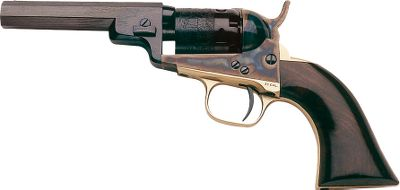 Colt produced this revolver in 1849 as the demand for smaller-sized revolvers among civilians became increasingly popular. The .31-caliber, five-shot revolver with seven-groove rifling boasts a case-hardened frame, brass backstrap and trigger guard. One-piece walnut grip.Blued finish.Barrel length: 4. Overall length: 9-1/2. Weight: 1-1/2 lbs. - $279.88