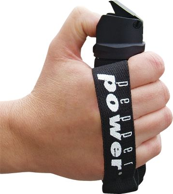 Fitness This pepper spray self-defense device fits comfortably in your hand with a stretch band to hold it in place while you run. It can also be worn on a belt and carried by mail carriers, delivery personnel, meter readers, bicyclists or anyone out for a stroll. Its one of the most versatile self-defense units on the market. 10-ft. Fog spray pattern. 1.9 oz. - $14.99
