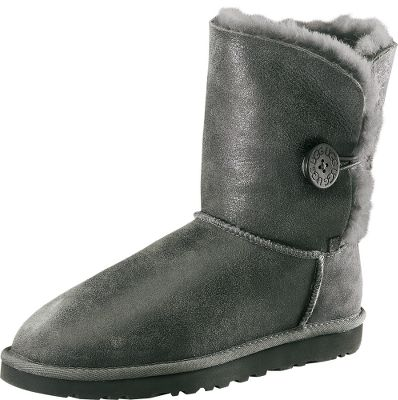 Waterproof, calf-height boots made of genuine twin-face sheepskin and classic, waxy, bomber leather. 100% premium wool fleece linings wrap your feet in dry, cozy warmth. Elastic closures and wooden buttons. Flexible, super-lightweight EVA outsoles. Imported. Women's whole sizes: 6-10 medium width.Colors: Grey, Loden. - $84.99