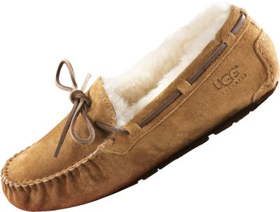 Entertainment These trend-setting originals combine Hollywood-chic, foot-indulging comfort and the cherished warmth of authentic Australian sheepskin. The moccasin-inspired Dakota is expertly stitched of supple suede-lined sheepskin. Genuine sheepskin shearling lining naturally wicks away internal moisture, keeping your feet dry and warm all day. Versatile molded-rubber indoor/outdoor soles take you to the market and keep your feet warm on cold floors. Imported. Womens whole sizes: 6-10 medium width. Colors: Jester Red, New Chestnut, Espresso, Black. Size: 6. Color: Black. Gender: Female. Age Group: Adult. Type: Slippers. - $69.88