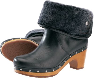 Match any outfit with these versatile, cuffable boots. Full-grain crackle leather uppers with soft sheepskin linings can be cuffed, turning them into ankle boots. Stylish beechwood outsoles. 7mm curly sheepskin linings. Imported. Heel height: 2-1/2.Shaft height: 8 (uncuffed); 5 (cuffed). Average weight: 3.4 lbs./pair.Womens whole sizes: 6-10 medium width.Colors: Black, Chestnut. - $199.88