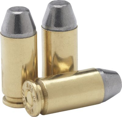 What a deal! Remanufactured bulk ammo by Ultramax loaded with 180-grain Conical-Nose Lead (CNL) bullets. Type: Centerfire Handgun. - $84.99