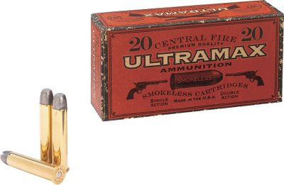 Hunting This bulk, new-manufactured .45-70 ammo by Ultramax is the inexpensive way to stock up for all of your cowboy-action events. Its crafted under a strict 10-step quality-assurance system, so you can be sure of consistent shot-to-shot performance. Loaded with 405-grain round-nose flat-point bullets for smooth, reliable operation in all lever-action rifles. Available: 100 rounds, plus 1 Dry-Storage box. - $184.99