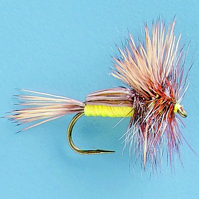 Flyfishing Extremely popular in the Rocky Mountains for fast moving, rough water, the Humpy is an attractor standby. While it doesn't look like anything specific, it does look buggy and floats extremely well with its bushy hackle and deer hair back. Per 3. Sizes: 10, 12, 14, 16. Colors: (004)Yellow, (005)Red. Color: Yellow. Type: Dry Flies. - $5.99