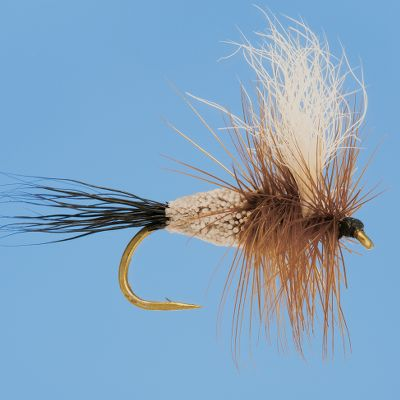 Flyfishing For choppy fast-water streams and rivers or times when you are catching lots of trout and want a fly that will float no matter if it is wet or covered in trout slime, the Irresistable Wulff is the perfect pattern. It could be a mayfly, caddis fly or a terrestrial but most importantly it will stay on top of the surface where it belongs due to its clipped deer hair body and its heavy hackle section. Like all Wulff patterns, its white calf hair wing is easy to keep on eye on at all times. Per 3. Sizes: 10, 12, 14, 16. Color: White. Type: Dry Flies. - $6.49