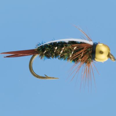 Flyfishing Prince nymphs are versatile and mimic a range of nymphs. The bead head adds weight to drop the fly down in the water, and the glitter attracts the interest of finicky fish. Per 3. Sizes: 12, 14, 16. Color: Gold. Type: Nymphs. - $5.39