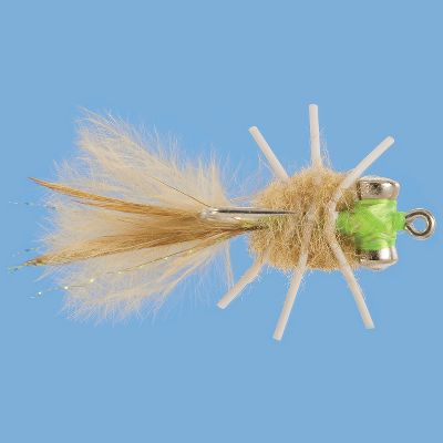 Flyfishing Cast this fly into the sandy flats and watch as both bones and permit try to crush it in their jaws. It perfectly imitates a small crab. Per each. Sizes: 2, 4, 6. Type: Saltwater Flies. - $4.99