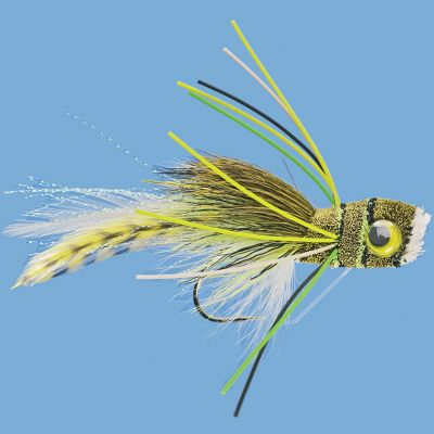 Flyfishing These hair-bodied flies float high and create a popping action when stripped. Per each. Sizes: 2, 6. Color: Porky's Pet, Frog. Color: Porky's Pet/ Frog. Type: Warm Water. - $5.99