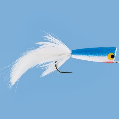 Flyfishing Just like its freshwater cousins, this saltwater popper displaces water to draw in lurking predators. Per each. Size: 2/0 Colors: (057)Blue/White, (131)Chartreuse/White. Color: Chartreuse. - $5.99