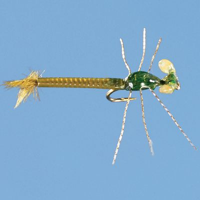 Flyfishing One of the most realistic damselflies ever created. It's deadly on lakes and ponds. Per 2. Size: 14. Colors: (009)Olive, (656)Tan. Color: Olive. - $5.59