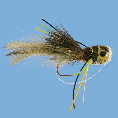 Flyfishing Frogs top the menu choices for still-water predators. This froglicious imitation's color scheme and profile fools bass into attack mode. Per each. Color: Frog. Sizes: 2, 6. Color: Frog. Type: Frog Baits. - $5.99