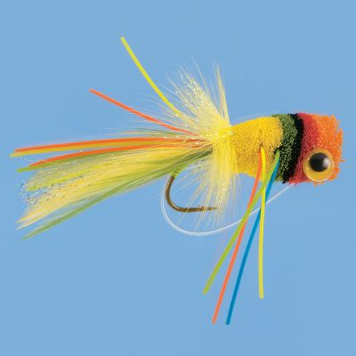 Flyfishing Strip this colorful bass magnet in with short jerks for heavyweight hookups. Deer-hair head creates maximum splash to imitate wounded prey. Per each. Color: Fruit Cocktail. Sizes: 2, 6. Color: Fruit Cocktail. Type: Frog Baits. - $6.99