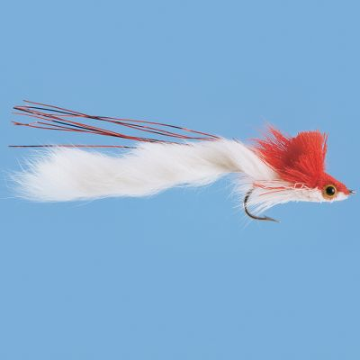 Flyfishing Freshwater or saltwater, these divers have the action to wake up a lethargic predator. Spun hair head creates the diving action. Rabbit strip tail swims through the water with lifelike realism. Per each. Color: Red/White. Size: 1/0. Color: Red/White. - $3.74