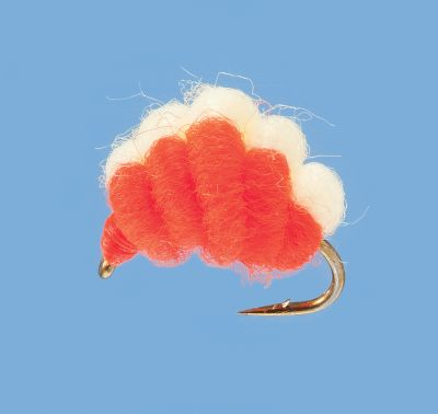 Flyfishing A unique egg pattern that works great for steelhead, salmon and trout. It sports a heavy-duty Tiemco hook for solid hooksets. Per 2. Size: 12. Colors: Flame Chartreuse, Shrimp/Pink. Color: Chartreuse. Type: Nymphs. - $2.99