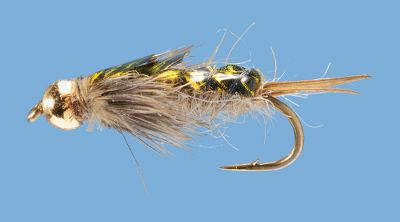 Flyfishing This golden stonefly nymph is a stream fishermans dream. Tungsten bead head. Per 2.Sizes: 10, 12, 14.Color: Golden. - $3.88