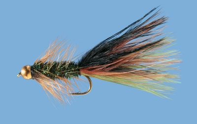 Flyfishing This streamer pattern is a must-have for any fly box. Imitates a variety of minnows or leeches. Tungsten, gold-colored bead head. Per 2. Sizes: 6, 8, 10. Color: Olive/Brown/Black. Color: Olive/Brown/Black. Type: Streamers. - $5.99