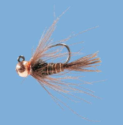 Flyfishing Designed to be fished euro style, this tungsten bead head nymph mimics a mayfly which is a favorite food of trout. The tungsten bead takes the fly down rapidly, keeping it in the strike zone longer. Per 2. Sizes: 10, 12, 14, 16. Color: Copper. Color: Copper. - $5.39