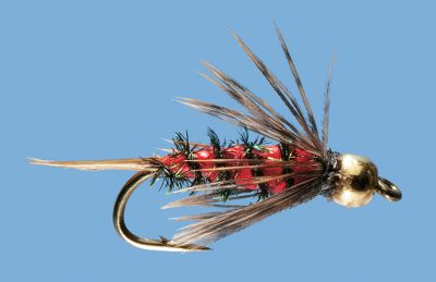 Flyfishing An enticing little nymph, the Bloody Mari is excellent for working trout water. The tail and wing details let it mimic a variety of insects. Gold bead head and vibrant red body. Per 2. Sizes: 12, 14. Color: Gold. Type: Nymphs. - $4.99