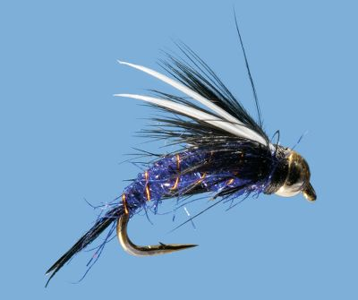 Flyfishing Fish rivers and lakes with this all-purpose, highly effective nymph. The Purple Prince is particularly good on rivers with hatches of black caddis. The gold bead adds weight to help the fly sink faster, and the color attracts the attention of trout. Per 2. Sizes: 12, 14, 16, 18. Color: Purple. Type: Nymphs. - $3.79