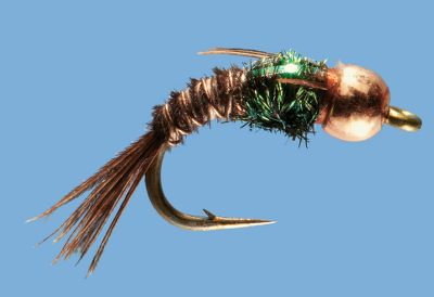 Flyfishing Designed to be fished below the surface to entice trout looking for insects at the mercy of the current, this nymph has a classic pheasant-tail pattern and bead head. Its fly pattern represents any number of insect species and entices fish with its lifelike movement. Copper bead head gets it down into the feeding zone quickly for longer drifts at the right depth. Per 2. Sizes: 12, 14, 16, 18, 20. Color: Copper. Type: Nymphs. - $3.79