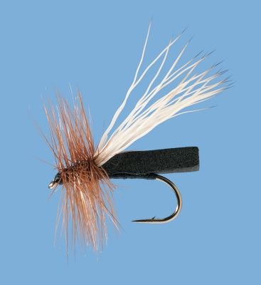 Flyfishing Unique foam body rides high and stays on the top of the water. Trout wont know what hit em. Per 2. Sizes: 14, 16, 18. Color: Black, Tan (not shown). Color: Black, Tan (not shown). Type: Dry Flies. - $3.88