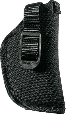 Entertainment Waterproof. Easy-wearing. Form-fitting. Its tightly-woven nylon shell blocks moisture from reaching your pistol, preserving its spotless finish. This holster also molds to the shape of your gun for a secure, custom fit and returns to its original shape after each use. Lightweight for easy carrying in the field, its practical medium-high ride design puts your pistol within easy reach, just above your belt. Fits holster belts up to 2-1/4 wide and standard trouser belts. Color: Black. Type: Traditional. - $7.88