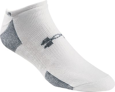 Fitness Ideal for wear with low-cut footwear, these no-show socks provide the comfort and performance you expect from Under Armour. Woven from 88% PolyArmour , 11% Nylour and 1% Lycra spandex. Per four pack.Sizes: M(4-8-1/2), L(9-12-1/2), XL(13-16).Colors: Black, White. - $8.88