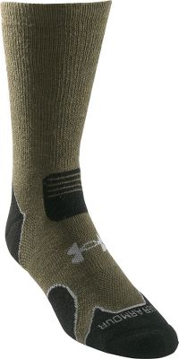 Camp and Hike Punishing trails ahead?Hunt and hike without a hitch in these performance socks. This heavyweight version is ideal for cold-weather excursions. A combination of moisture-wicking yarns and ventilated mesh panels keep your feet dry. Strategically placed cushioning absorbs shock. Knitted arch reinforcements increase blood circulation and ensure a snug fit. Flex zones and seamless toes prevent bunching for increased comfort. Slip-resistant, deep heel pockets. Made of a technical blend of 55% acrylic, 30% merino wool, 13% Nylour and 2% spandex. Per pair. Imported. Mens sizes: M(4-8), L(9-12). Color: Sage. Size: Large. Color: Sage. Gender: Male. Age Group: Adult. Material: Acrylic. - $8.88