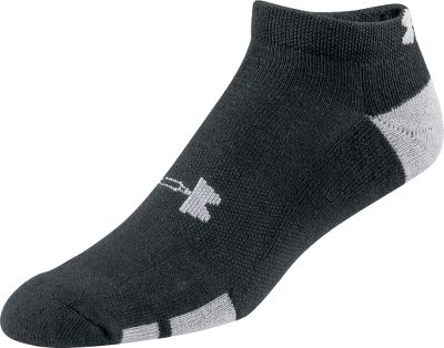 Fitness A six-pack of low-cut athletic socks that deliver legendary Under Armour performance. A unique fiber blend simultaneously provides better traction inside shoes, while UAs Signature Moisture Transport system wicks moisture away from feet for a more comfortable fit. Strategic cushioning results in optimal shock absorption and protection. Contoured Y heels enhance both comfort and fit. ArmourBlock technology neutralizes odor-causing microbes. Machine washable. Imported. Size: Large. Colors: Black, White. Size: One Size. Color: Black. Gender: Male. Age Group: Adult. Type: Athletic Socks. - $19.99