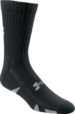 Fitness These crew-length socks offer moisture-wicking, quick-drying comfort and feature Perfect Fit Toes that eliminate bunching and chafing. Cushioned footbeds for maximum comfort. Antimicrobial ArmourBlock prevents odors. Built-in arch supports reduce foot fatigue. Comfort Top for a secure fit. Made of 88% polyester, 11% nylon and 1% spandex for softness with stretch. Imported. Men's sizes: M(4 to 8-1/2), L(9 to 12-1/2). Colors: Black, White. Size: One Size. Color: White. Gender: Male. Age Group: Adult. Material: Nylon. Type: Socks. - $20.99