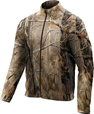 Hunting Slip on this 300-weight performance fleece jacket when the temperature drops and game is moving. The durable 7.5-oz. bonded-polyester, hard-face-fleece exterior combined with a Sherpa fleece interior forms an impenetrable barrier to wind and weather. Quick-dry lining wicks and evaporates moisture. Frontal venting. ColdGear cuffs. Imported.Sizes: M-2XL.Camo patterns:Realtree AP ,Mossy Oak Break-Up Infinity . - $139.99